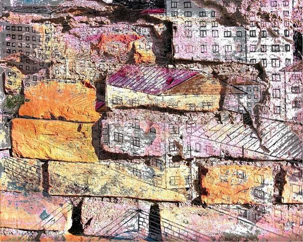 She Mixed Media - Wall In City by Yury Bashkin