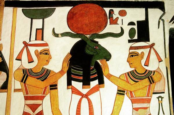 Hieroglyph Photograph - Wall Painting In Tomb Of Queen Nefertari by Patrick Landmann/science Photo Library