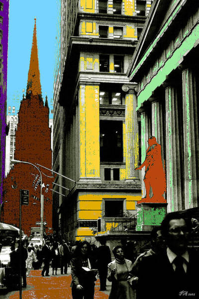 Painting - New York Pop Art 99 - Color Illustration by Peter Potter