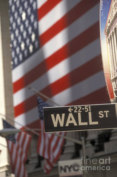 Photograph - Wall Street by Jim West