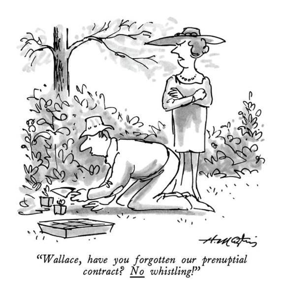 Wallace, Have You Forgotten Our Prenuptial Art Print