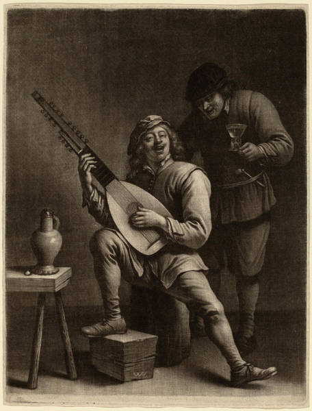 Wall Art - Drawing - Wallerant Vaillant After David Teniers The Younger Flemish by Quint Lox