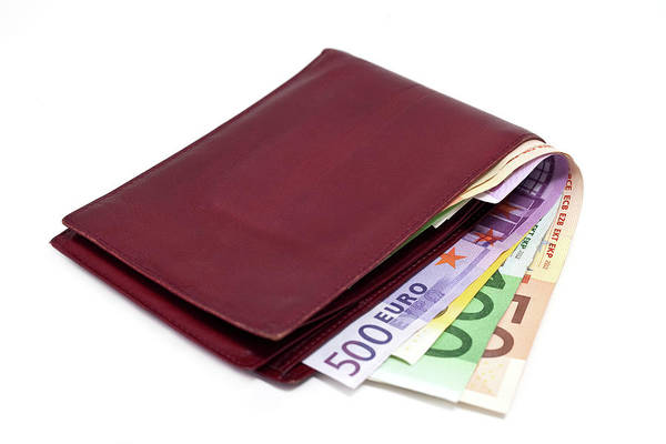 Wallet Wall Art - Photograph - Wallet With Euro Currency by Ursula Alter