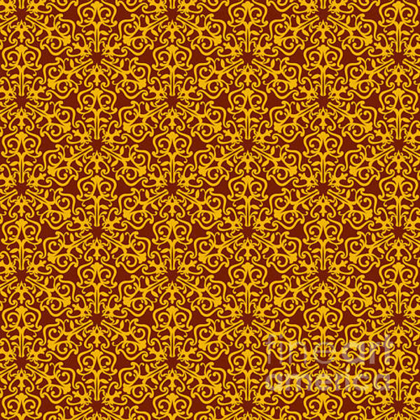 Symmetrical Digital Art - Wallpaper For Textile by Dmitrievalidiya
