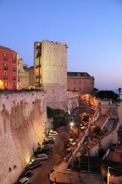 Sardinia Photograph - Walls Of Il Castello And Torre by Andy Christiani