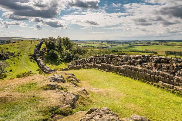 Greenhead Photograph - Walltown Crags On Hadrians Wall by David Head