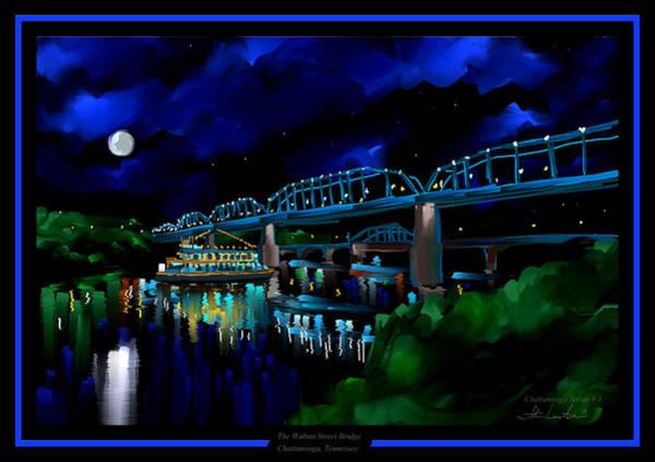 Wall Art - Painting - Walnut Street Bridge - Chattanooga Landmark Series - # 1 by Steven Lebron Langston