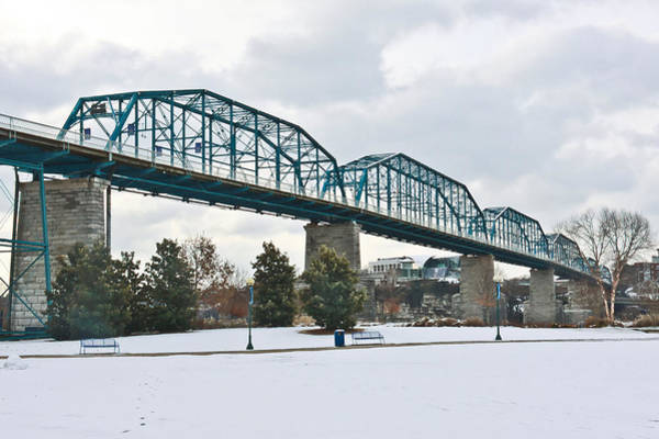 Photograph - Walnut Street Bridge In The Snow by Tom and Pat Cory