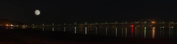 Photograph - Waldport Bridge Panorama by HW Kateley