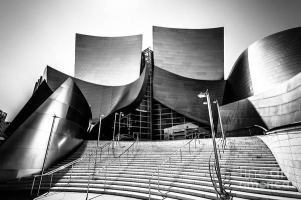 American Steel Photograph - Walt Disney Concert Hall In Black And White by Paul Velgos