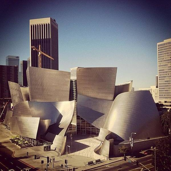 Fantasy Wall Art - Photograph - Walt Disney Concert Hall View From 9th by Tony Castle