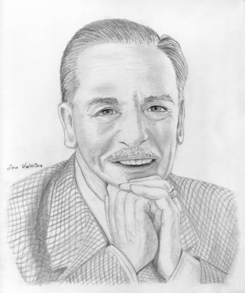 Drawing - Walt Disney by M Valeriano