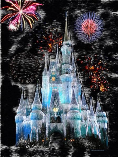 Adventureland Photograph - Walt Disney World Frosty Holiday Castle by Thomas Woolworth