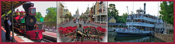 Wall Art - Photograph - Walt Disney World Transportation 3 Panel Composite 01 by Thomas Woolworth