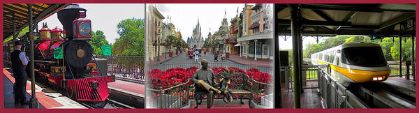 Wall Art - Photograph - Walt Disney World Transportation 3 Panel Composite 02 by Thomas Woolworth
