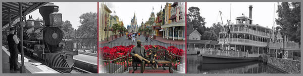 Wall Art - Photograph - Walt Disney World Transportation 3 Panel Composite by Thomas Woolworth
