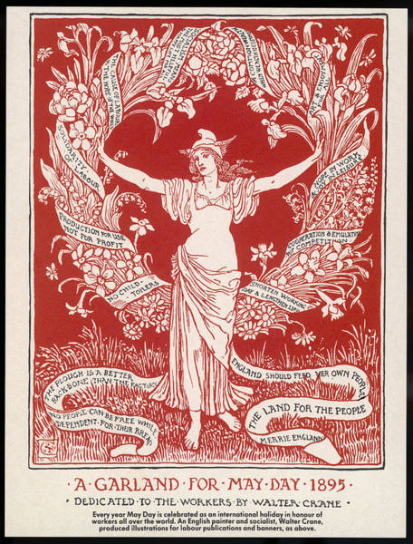 Arcadia Drawing - Walter Crane Shows His  Political by Mary Evans Picture Library