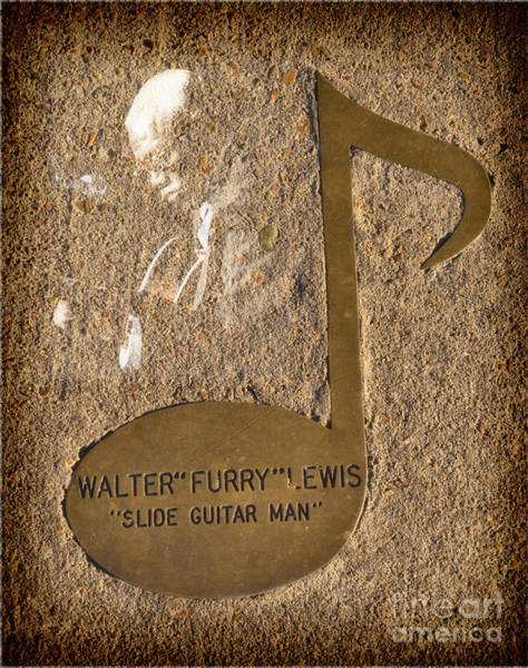 Photograph - Walter Furry Lewis Note by Donna Greene