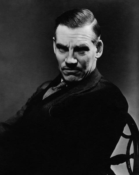 Middle Aged Photograph - Walter Huston Scowling by Lusha Nelson