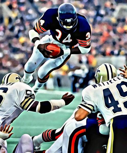 Wall Art - Painting - Walter Payton by Florian Rodarte