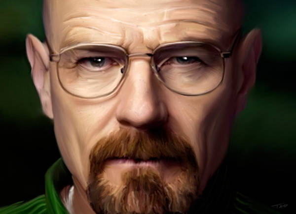 Bryan Painting - Walter White - Color by Paul Tagliamonte