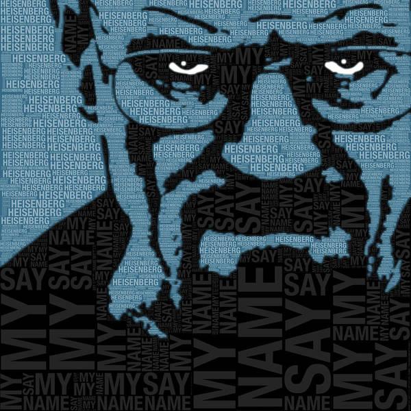 Painting - Walter White Heisenberg Breaking Bad by Tony Rubino