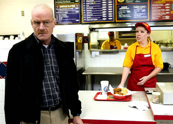 Walter White In Pollos Hermanos @ Breaking Bad Art Print
