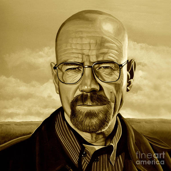 Gus Wall Art - Mixed Media - Walter White by Meijering Manupix