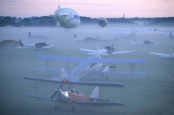 Antonov An-2 Photograph - Waltham In The Mist by Austin Brown