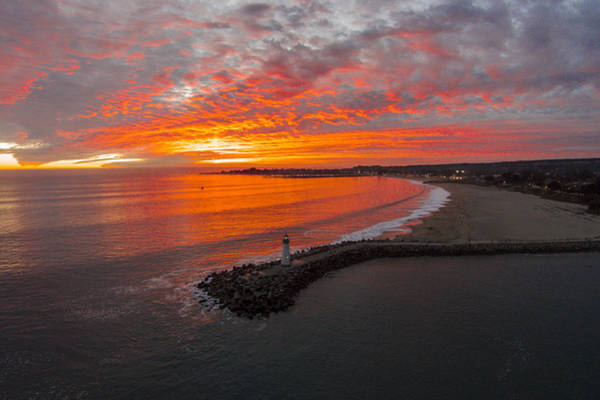 Red Bluff Photograph - Walton Lighthouse Ablaze by David Levy