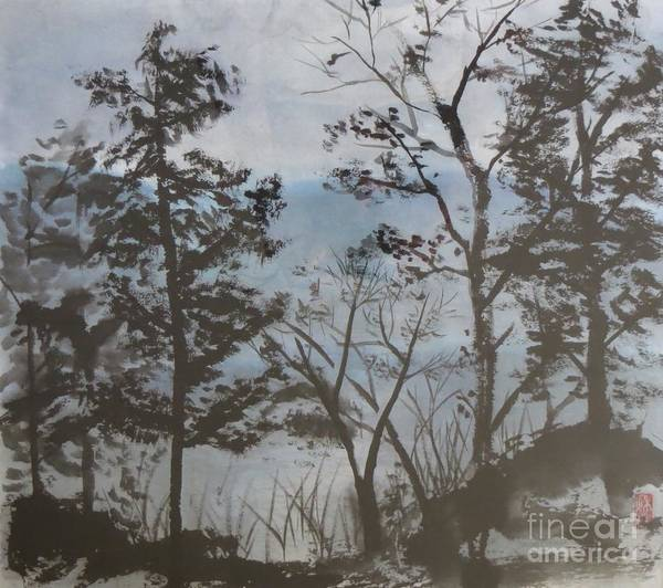 Adirondack Mountains Painting - Wanakena by Caryn Coville