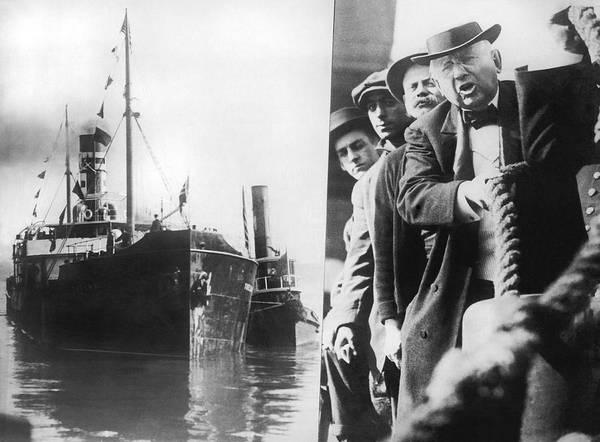 Photograph - Wanamaker's Ship Mercy by Underwood Archives