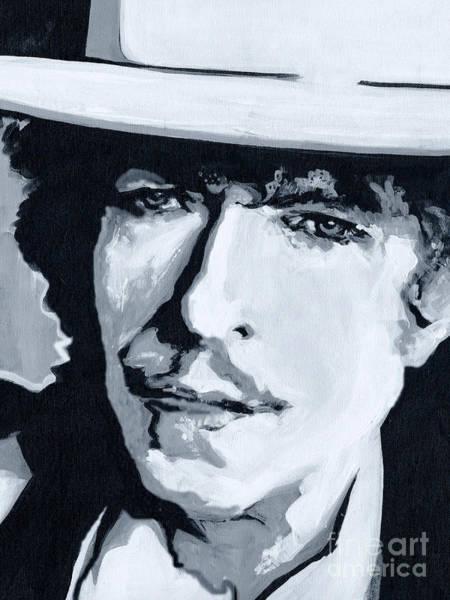Painting - Wandering Troubadour - Bob Dylan by Tanya Filichkin