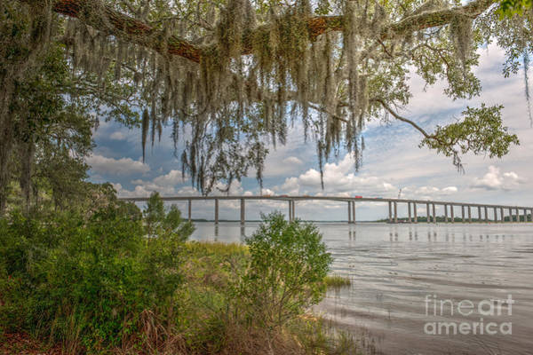Photograph - Wando River Bridge by Dale Powell
