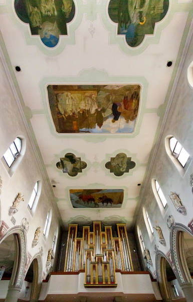 Photograph - Wangen Organ And Ceiling by Jenny Setchell