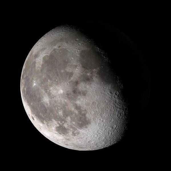 Lola Photograph - Waning Gibbous Moon by Nasa/gsfc-svs/science Photo Library