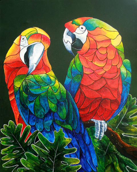 Parrot Painting - Wanna Know A Secret by Sherry Shipley
