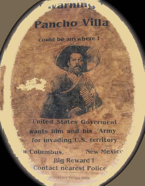 Wanted Poster For Pancho Villa After Columbus New Mexico Raid  Art Print