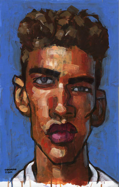 Gestural Painting - Wants To Be A Model by Douglas Simonson