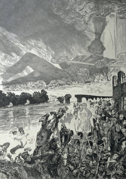 God Of War Wall Art - Drawing - War 1910 by Max Klinger