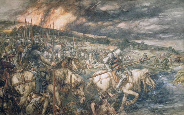 Wounded Soldier Painting - War  After The Battle by Sir John Gilbert