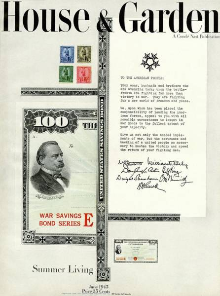 Small House Photograph - War Bonds, Stamps And A Letter by Priscilla Peck