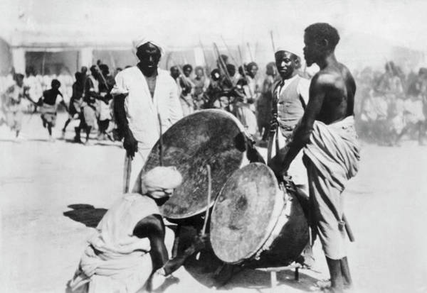 Photograph - War Drums In Ethopia by Underwood Archives