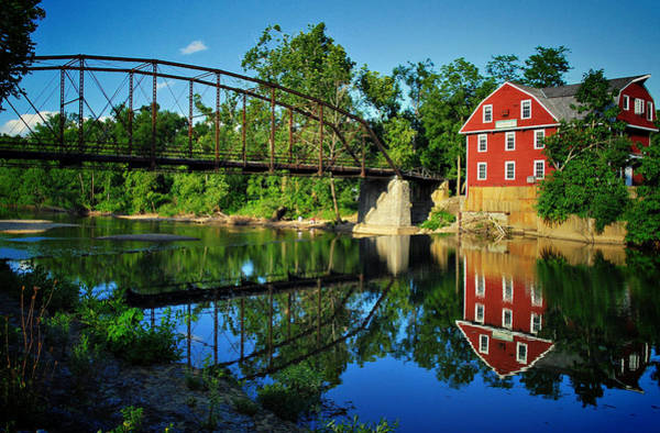 Photograph - War Eagle Mill And Bridge by Gregory Ballos