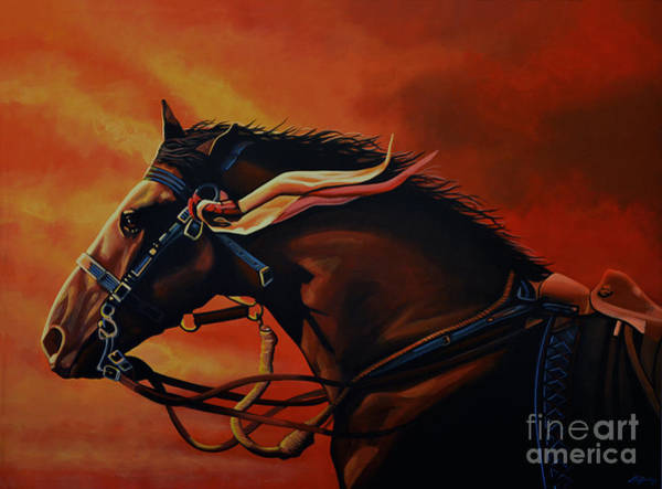 Wall Art - Painting - War Horse Joey  by Paul Meijering