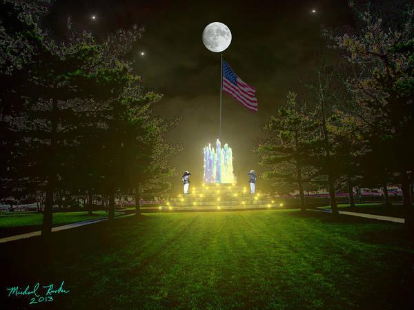 Respect Digital Art - War Memorial by Michael Rucker