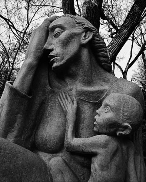 Photograph - War Mother By Charles Umlauf In Black And White by Gia Marie Houck