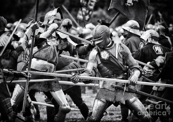 Re-enactment Wall Art - Photograph - War Of The Roses Medieval Knights  by Tim Gainey