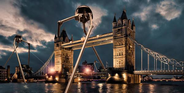 Wall Art - Digital Art - War Of The Worlds London by Peter Chilelli