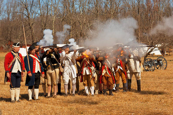 Photograph - War - Revolutionary War - The Musket Drill by Mike Savad